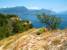 Bush. A wonderful view of the Lake Garda (Italy royalty free stock images