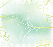Bush. Abstract floral background with halftone frame. Vector illustration stock illustration