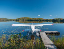A bush airplane on a lake Royalty Free Stock Photo