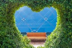 Bush avec un trou sous forme de coeur Concept d'amour Photo libre de droits