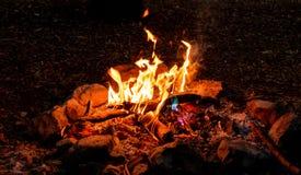 Bush-brandplaats Royalty-vrije Stock Afbeeldingen