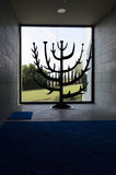 Bush bruciante a Domus Galilaeae fotografia stock libera da diritti