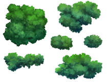 Bush for cartoon. Isolated on white background vector illustration