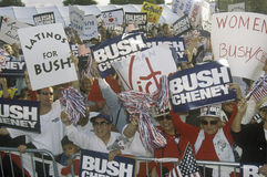 Bush/Cheney-campagneverzameling in Costa Mesa, CA royalty-vrije stock foto's