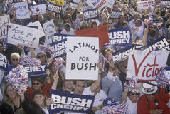 Bush and Cheney campaign rally Stock Photos