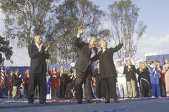Bush and Cheney campaign rally. In Costa Mesa, CA, 2000 Stock Photos