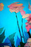 Bush delle rose fresche, dipingente Immagini Stock Libere da Diritti
