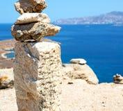 Bush   in delos greece the historycal acropolis and old ruin sit. In delos       greece the historycal acropolis and         old ruin site Royalty Free Stock Photos