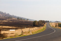 Bush-Feuer Tasmanien 2013 Lizenzfreies Stockfoto