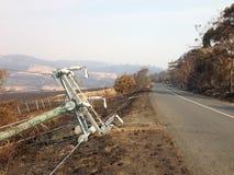 Bush-Feuer Tasmanien 2013 Stockfotos