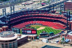 Bush Field. Home of the St. Louis Cardinals baseball team Stock Image