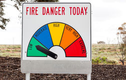 Bush fire danger sign. Found near roads Royalty Free Stock Images