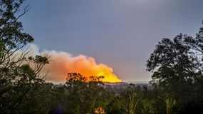 Bush fire timelapse at night stock footage