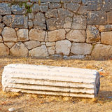 Bush gate  in  myra  the      old column  stone  construction a Royalty Free Stock Image