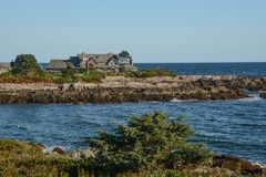 Bush Home in Maine. The George H.W. Bush home in Kennebunkport, Maine royalty free stock photos