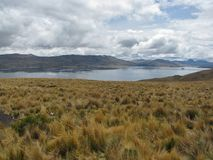 Lake among the mountains in Arequipa, Peru Royalty Free Stock Photography