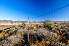 Bush-land dichtbij Route 62 - Oudtshoorn, Zuid-Afrika Royalty-vrije Stock Afbeeldingen