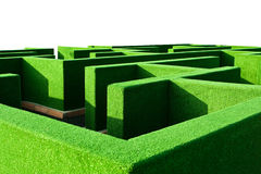 Bush Maze. Detail shot with a strong perspective Royalty Free Stock Photo