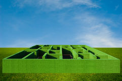 Bush Maze and The Sky Stock Image