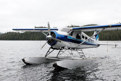 A bush plane performs taxi in in Alaska. Royalty Free Stock Image