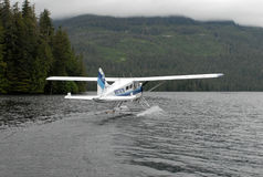 A bush plane performs taxi in in Alaska. Stock Photography