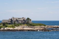 The Bush Residence at Walkers Point, Kennebunk Por stock photography