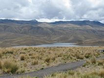 Lake among the mountains in Arequipa, Peru Stock Image