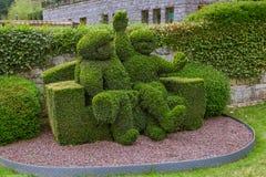 Bush skulptur parkerar in - Durbuy Belgien arkivfoto