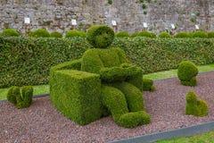 Bush skulptur parkerar in - Durbuy Belgien arkivbild