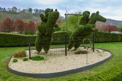 Bush skulptur parkerar in - Durbuy Belgien royaltyfri foto