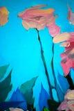 Bush van verse rozen, het schilderen Royalty-vrije Stock Afbeeldingen