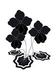 Bush violets. Silhouette. Bush stylized silhouette of violets Stock Photography