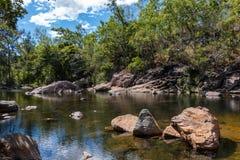 Bush walking Crystal Creek. Bush walking at Crystal Creek in North Queensland Australia Stock Photos