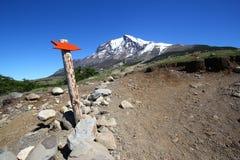 Bush walking in patagonia Royalty Free Stock Image