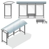 Bushalte. Leeg Ontwerpmalplaatje voor het Brandmerken stock illustratie