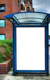 Bushalte met lege bilboard HDR 03 Stock Fotografie