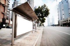 Bushalteaanplakbord Stock Foto's