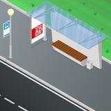 Bushalteschuilplaats stock illustratie