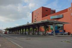 Bushaltestelle in Brügge Stockfotografie