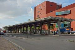 Bushaltestelle in Brügge Stockfoto