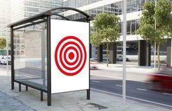 Bushaltestelle-Zielanschlagtafel stockfoto