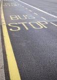 Bushaltestellezeichen Stockbild