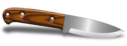 Bushcraft knivillustration Fotografering för Bildbyråer