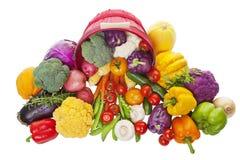 Bushel av grönsaker royaltyfri foto