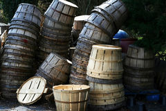 Bushel Baskets Stock Photo