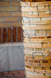 Bushel baskets stack Royalty Free Stock Photo