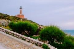 The Punta Carena lighthouse, Capri. Stock Photos