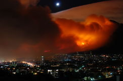 Bushfire Cape Town March 2009 Royalty Free Stock Photo