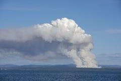 Bushfire dym obraz stock