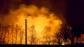 Bushfire at night Royalty Free Stock Photography